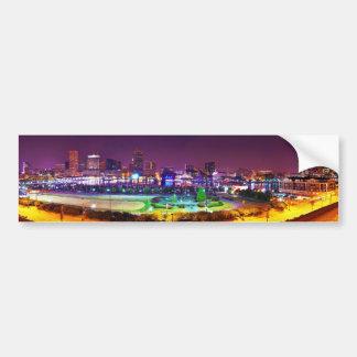 Panorama of Baltimore's Inner Harbor Night Skyline Bumper Sticker
