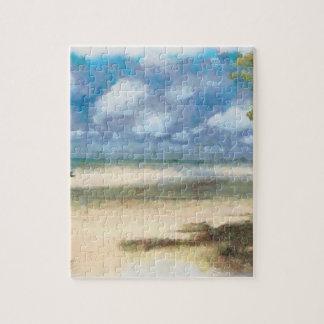 Panorama of beach jigsaw puzzle