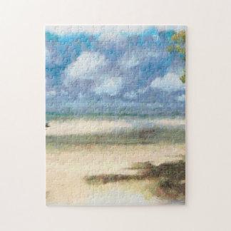 Panorama of beach puzzles