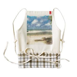 Panorama of beach zazzle HEART apron