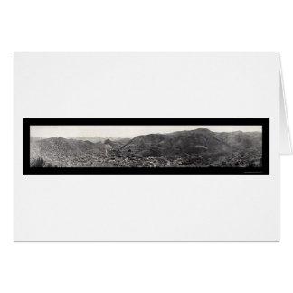 Panorama of Bisbee AZ Photo 1909 Card