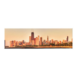 Panorama of Chicago skyline at sunrise Canvas Prints