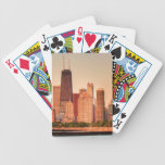 Panorama of Chicago skyline at sunrise Bicycle Card Deck