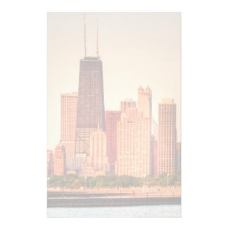Panorama of Chicago skyline at sunrise Stationery