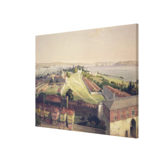 Panorama of Constantinople, plate 22 from 'Aya Sof Canvas Print