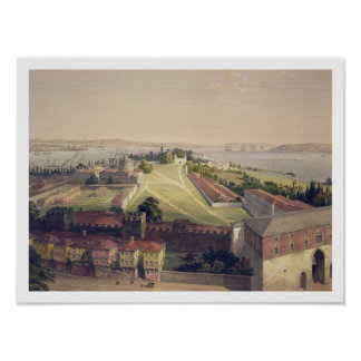 Panorama of Constantinople, plate 22 from 'Aya Sof Posters