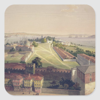 Panorama of Constantinople, plate 22 from 'Aya Sof Square Sticker
