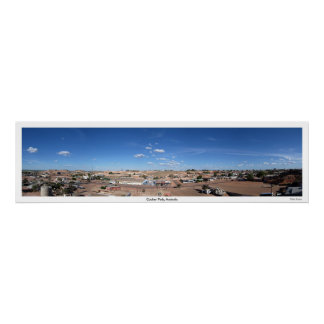 Panorama of Coober Pedy, South Australia Poster