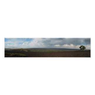 Panorama of Craters of the Moon Poster
