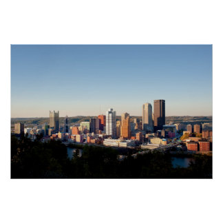 Panorama of Downtown Pittsburg Print