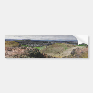 Panorama of Edinburgh Scotland from Arthur's Seat Car Bumper Sticker
