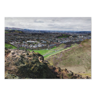 Panorama of Edinburgh Scotland from Arthur's Seat Card
