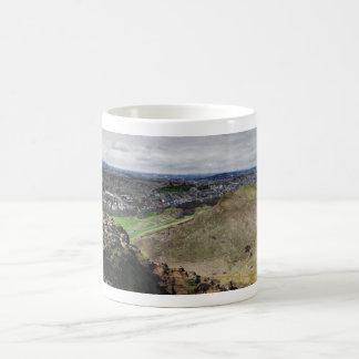 Panorama of Edinburgh Scotland from Arthur's Seat Coffee Mug