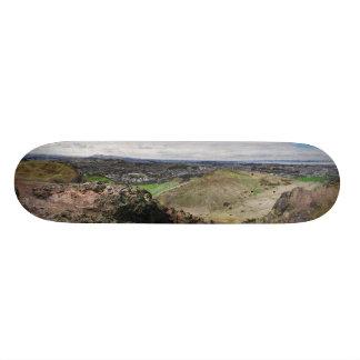 Panorama of Edinburgh Scotland from Arthur's Seat Skateboard Deck