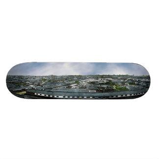 Panorama of Edo Now Tokyo Showing Daimyo Residence Skateboard