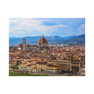 Panorama of Florence in Tuscany - Italy Canvas Print