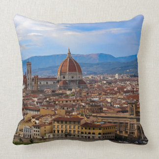 Panorama of Florence in Tuscany - Italy Throw Pillow