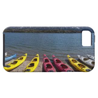 Panorama of kayaks on Bernard Lake in Alaska 2 iPhone SE/5/5s Case