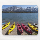 Panorama of kayaks on Bernard Lake in Alaska 2 Mouse Pad