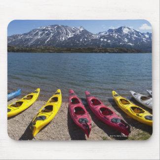 Panorama of kayaks on Bernard Lake in Alaska 2 Mouse Pad