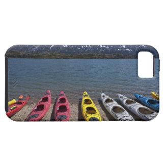 Panorama of kayaks on Bernard Lake in Alaska iPhone SE/5/5s Case
