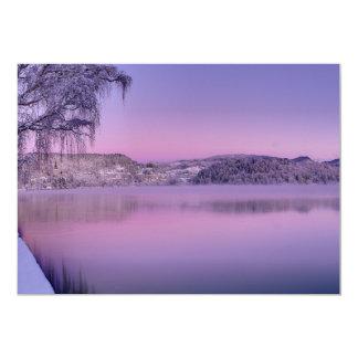 Panorama of Lake Bled Julian Alps Slovenia 5x7 Paper Invitation Card