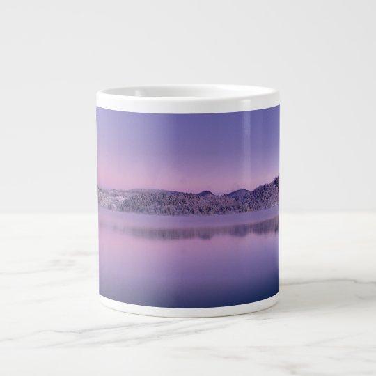 Panorama of Lake Bled Julian Alps Slovenia Large Coffee Mug
