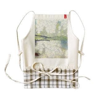 Panorama of landscape zazzle HEART apron