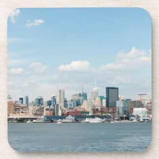 Panorama of Midtown Manhattan over Hudson River Beverage Coaster