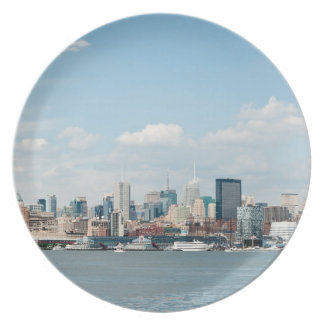 Panorama of Midtown Manhattan over Hudson River Dinner Plate