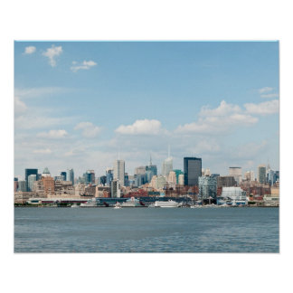 Panorama of Midtown Manhattan over Hudson River Poster