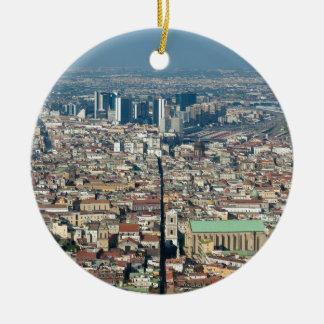 Panorama of Naples Ceramic Ornament