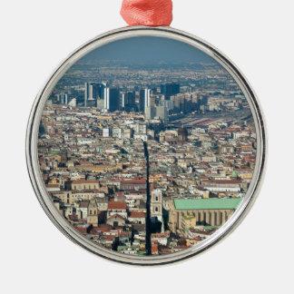 Panorama of Naples Metal Ornament