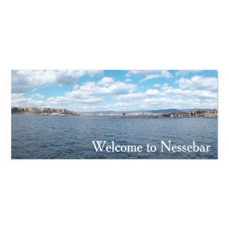 Panorama of Nesebur City, Bulgaria 4x9.25 Paper Invitation Card