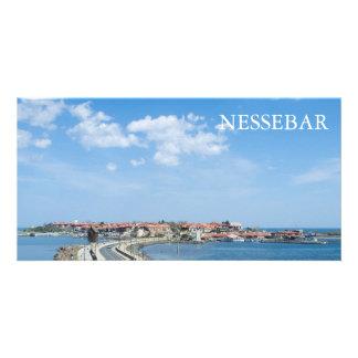 Panorama of Old Nessebar. Bulgaria Card