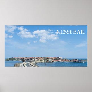 Panorama of Old Nessebar. Bulgaria Poster