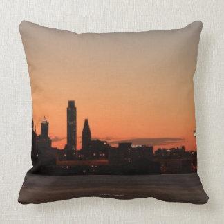 Panorama of Philadelphia, Pennsylvania Throw Pillows
