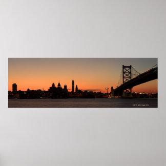 Panorama of Philadelphia, Pennsylvania Poster