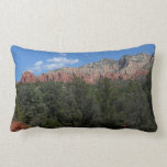 Panorama of Red Rocks in Sedona Arizona Lumbar Pillow