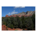 Panorama of Red Rocks in Sedona Arizona Poster