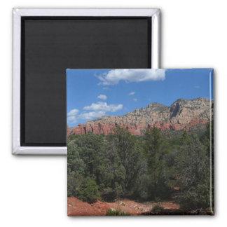 Panorama of Red Rocks Sedona Arizona Travel Photo 2 Inch Square Magnet