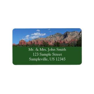 Panorama of Red Rocks Sedona Arizona Travel Photo Label