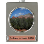 Panorama of Red Rocks Silver Plated Banner Ornament