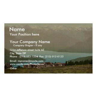 Panorama of Rigi Kaltbad and the Lake of Four Cant Double-Sided Standard Business Cards (Pack Of 100)