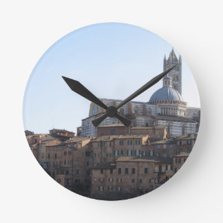 Panorama of Siena with the metropolitan cathedral Round Clock