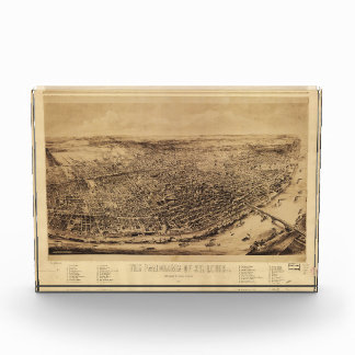 Panorama of St. Louis Missouri (1894) Acrylic Award