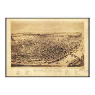 Panorama of St. Louis Missouri (1894) Canvas Print