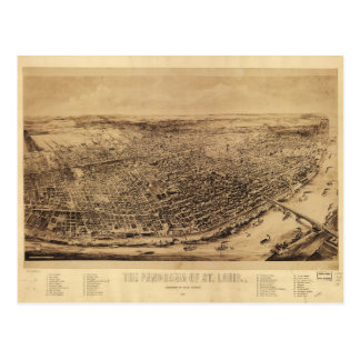 Panorama of St. Louis Missouri (1894) Postcard