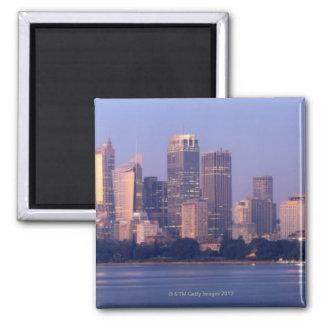 Panorama of Sydney Skyline at Sunset, Australia 2 Inch Square Magnet