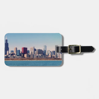 Panorama of the Chicago skyline Bag Tag
